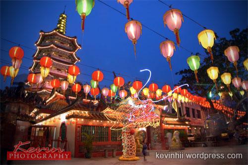 """Night Scene of The Dragon Head @ """"Tua Pek Kong"""" Temple"""
